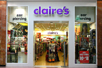 Central Texas Mom Review Claire's in Austin South Park Meadows Ear Piercing