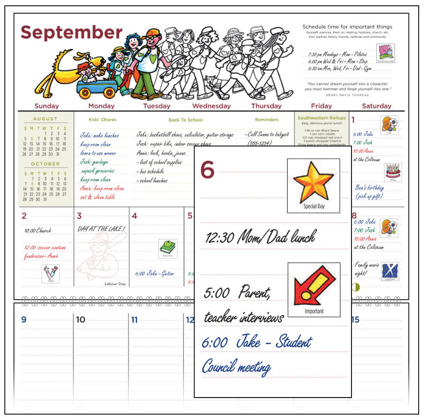 Calendar For Organization : More time moms family organizer calendar review central