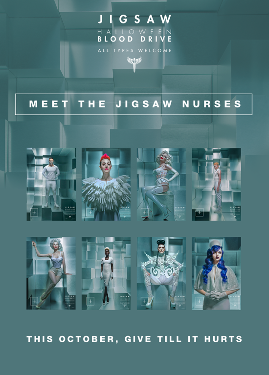 GIVE TILL IT HURTS blood drive + meet the Jigsaw nurses 10/20/17 #AllTypesWelcome